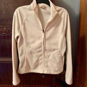 Zip-Up Cream Fleece Jacket • Merona